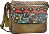 Anuschka Women's Hand Painted Zip Around Organizer Satchel