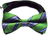 Pense'e PenSee 100% Silk Mens Bow Tie Stripe Bow Ties