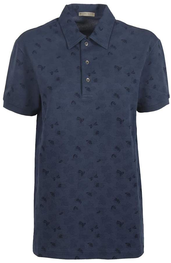 Bottega Veneta Butterfly Pattern Polo Shirt
