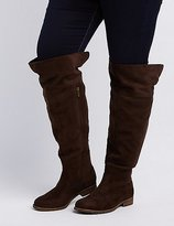 Charlotte Russe Wide Width Flat Over-The-Knee Boots