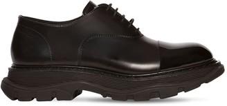 Alexander McQueen Leather Lace-up Shoes W/enamel Detail