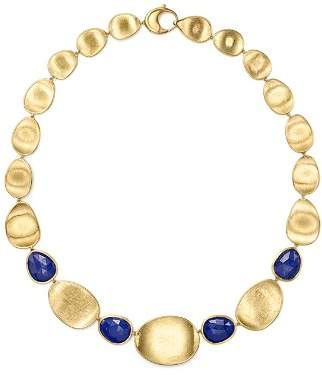 """Marco Bicego 18K Yellow Gold Lapis Collar Necklace, 18"""""""