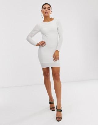 ASOS DESIGN open back plisse mini dress