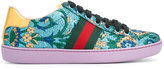 Gucci jacquard low top sneakers - women - Leather/Polyester/rubber - 35.5