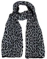 Sonia Rykiel Leopard Velvet Scarf