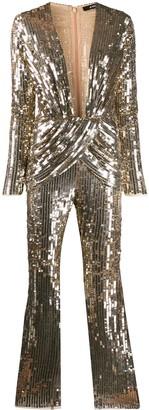 Amen Plunge Style Embellished Jumpsuit