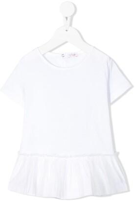 Il Gufo ruffle hem T-shirt dress