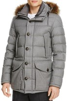Moncler Rethel Wool Down Quilted Coat