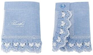 Philosophy di Lorenzo Serafini Embroidered Logo Cotton Cuffs
