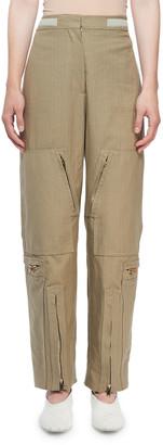 Stella McCartney Washed Herringbone Cotton Modified Cargo Pants
