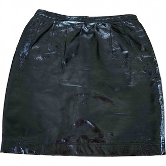 Jean Louis Scherrer Jean-louis Scherrer Black Patent leather Skirt for Women Vintage
