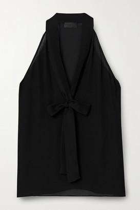 Nili Lotan Pussy-bow Silk Crepe De Chine Top