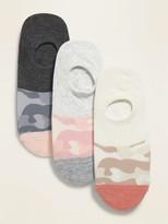 Old Navy Novelty No-Show Sneaker Socks 3-Pack for Women