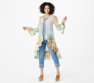 Tolani Collection Tie-Die Tassel Sleeve Wrap Cover-Up