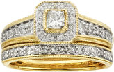JCPenney MODERN BRIDE 1 CT. T.W. Certified Diamond 14K Yellow Gold Bridal Ring Set