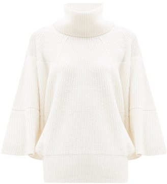 Givenchy Roll-neck Ribbed Cashmere Sweater - White