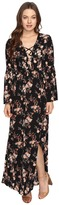 Brigitte Bailey Hedda Bell Sleeve Floral Maxi Dress Women's Dress