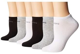 adidas Superlite 6-Pack No Show (Black/Light Heather Grey/White/Onix/Light Onix) Women's No Show Socks Shoes