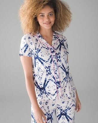 Soma Intimates Short Sleeve Notch Collar Pajama Top