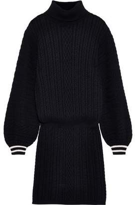 Joie Jelinelle Cable-knit Cotton And Cashmere-blend Turtleneck Mini Dress