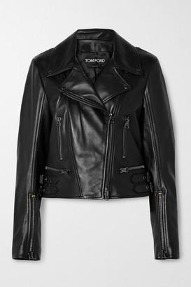 Tom Ford Leather Biker Jacket - Black