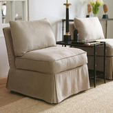OKA Charis Armless Chair, Natural Linen