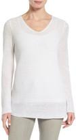 Eileen Fisher V-Neck Organic Linen Sweater