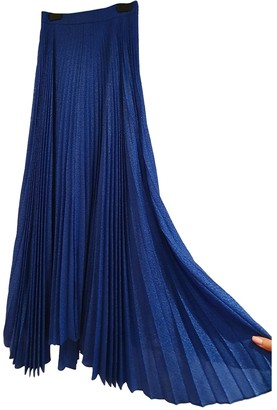 Alice + Olivia Blue Silk Skirt for Women