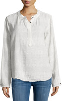 Current/Elliott Sunview Ditsy Blouse, Dirty White