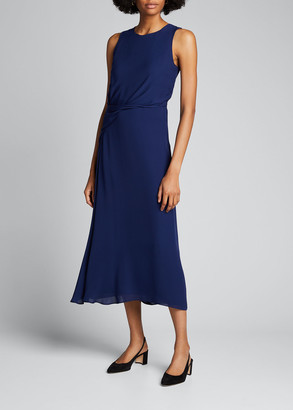 Giorgio Armani Draped Silk Cocktail Dress
