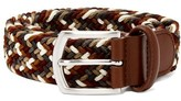 Anderson's - Multicoloured Leather And Stretch Viscose Belt - Mens - Brown Multi