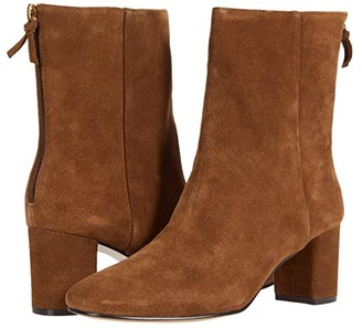 J.Crew Calf Suede Minimal Mckay Ankle Boot (Rich Walnut) Women's Shoes