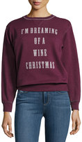 Signorelli I'm Dreaming Of A Wine Christmas Sweatshirt, Dark Red