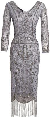Jywal London Embellished short WEDDING RECEPTION flapper dress