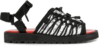 Kolor Metallic Multi-Strap Sandals