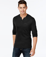 INC International Concepts Men's Collude Split-Neck Shirt, Only at Macy's
