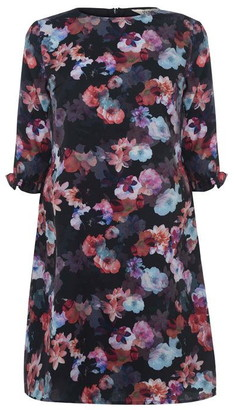 Yumi Floral Tunic Dress with Ruffle Trim