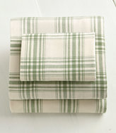 L.L. Bean Ultrasoft Comfort Flannel Sheet Set, Windowpane