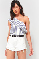 Urban Outfitters One Shoulder Striped Top