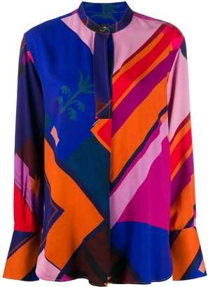 Paul Smith geometric print blouse