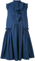 Moncler ruffle shift dress - women - Cotton - 40