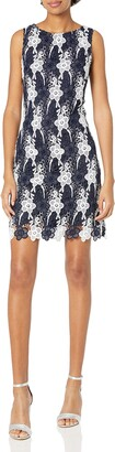 Taylor Dresses Women's Chemical Burnout Daisy Lace Sheath Dress