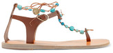Ancient Greek Sandals Chrysso Embellished Leather Sandals - Brown