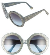 Oscar de la Renta Women's 54Mm Round Sunglasses - Black