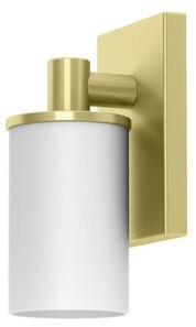 Gatco Farmhouse 1 - Light Dimmable Armed Sconce Finish: Brushed Brass