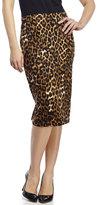 Spense Animal Print Scuba Skirt