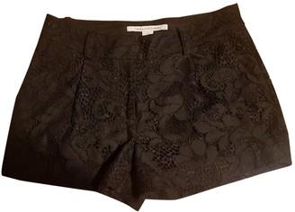 Diane von Furstenberg Black Cotton Shorts