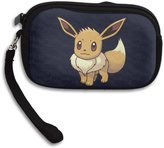 LPSDKNJ Eevee Normal Pokemon Multi-purpose Clutch Bags Casual Wristlet Bag