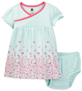 Tea Collection Cannelita Wrap Neck Dress & Bloomer Set (Baby Girls)