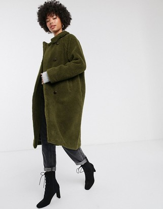 Parka London Alma double breasted teddy coat
